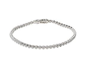 9ct White Gold 0.50ct Diamond Tennis Bracelet