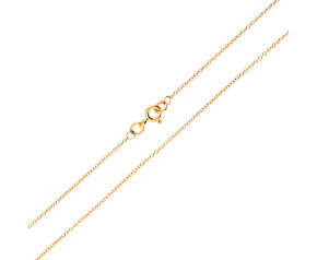 18ct Rose Gold Trace Chain