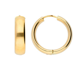 9ct Yellow Gold Chunky Hinged Hoops