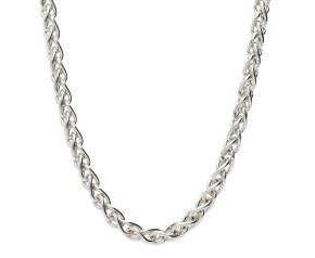 9ct White Gold4.20mm Spiga Chain