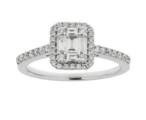 18ct White Gold 0.60ct Diamond Cluster Dress Ring