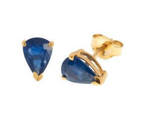 9ct Gold 1.50ct Sapphire Solitaire Earrings