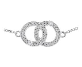 9ct White Gold 0.17ct Diamond Bracelet