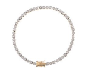9ct Yellow Gold 0.52ct Diamond Tennis bracelet