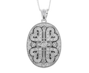 9ct White Gold 0.30ct Diamond Locket