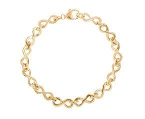 9ct Yellow Gold Infinity Bracelet