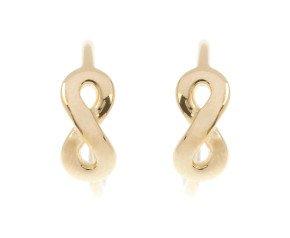 9ct Yellow Gold Infinity Hoop Earrings