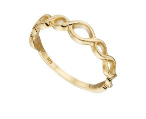 9ct Yellow Gold Infinity Band Ring