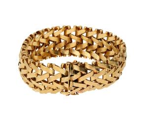 Vintage 1960's 9ct Yellow Gold Fancy Bracelet