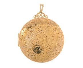 Vintage 9ct Gold Large Round Locket