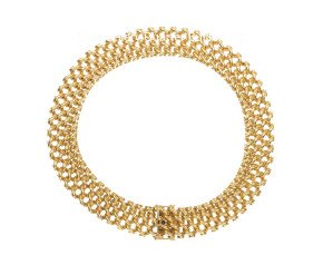 Vintage 'Caplain Paris' French 18ct Gold Necklace