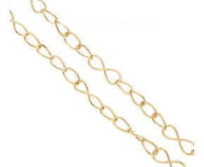 Pre-Owned 9ct Gold Infinity & Curb Adustable Chain Necklace