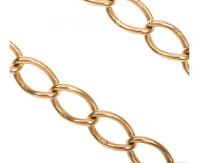 Early 20th Century 18ct Gold Open Link Curb Chain