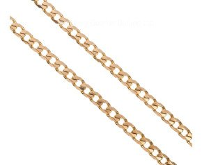 "Pre-owned 9ct Yellow Gold 19"" Filed Curb Chain"