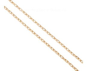 """Pre-owned Italian 9ct Yellow Gold 29.5"""" Filed Trace Chain"""