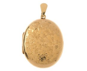 A 1970's 9ct Yellow Gold Oval Locket