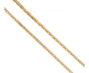 "Pre-owned 9ct Yellow Gold 20"" Byzantine Chain"