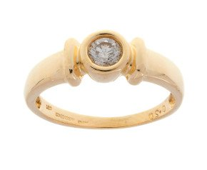 Pre-owned 18ct Yellow Gold 0.20ct Diamond Solitaire Ring