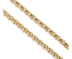 Pre-owned 9ct Yellow Gold 6.2mms Spiga Chain