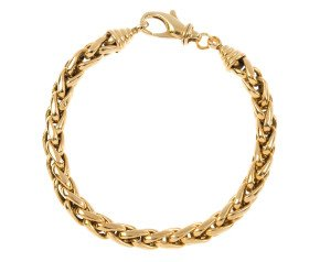 Pre-owned 18ct Yellow Gold Spiga Chain Bracelet
