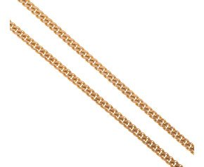 Pre-owned Italian 9ct Yellow Gold Filed Curb Chain
