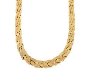 Pre-owned 14ct Yellow Fancy Gold Curb Chain