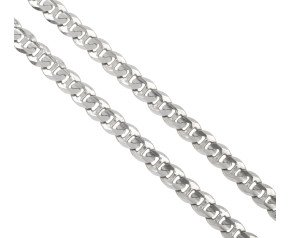 Pre-owned 9ct White Gold 4.07mm Curb Chain
