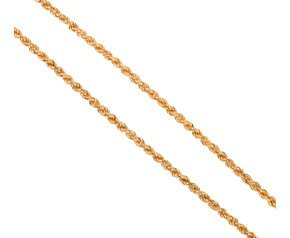 "Pre-owned Gold 16.5"" Rope Chain"