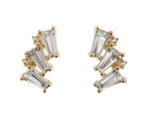 9ct White Gold Topaz Fancy Stud Earrings