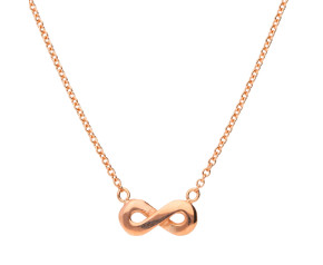 9ct Rose Gold Infinity Necklace