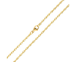 18ct Yellow Gold 1.99mm Prince of Wales Rope Chain