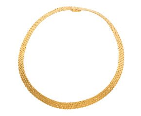 Vintage 1960's 18ct Yellow Gold Textured Collar necklace