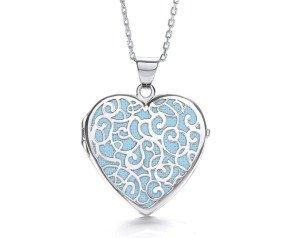 Sterling Silver Fancy Heart Locket