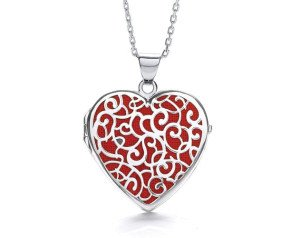 Sterling Silver Fancy Heart Locket