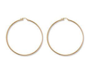 9ct Yellow Gold 63mm Hoop Earrings