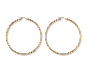 9ct Yellow Gold 54mm Hoop Earrings