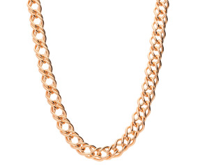 9ct Rose Gold 6.86mm French Curb Chain
