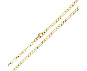 9ct Yellow Gold 3.98mm Figaro Belcher Chain