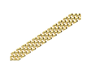 Pre-owned 9ct Gold Panther Chain Bracelet