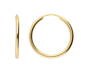 9ct Yellow Gold 20mm Sleeper Hoop Earrings