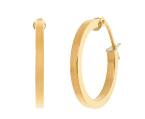 18ct Yellow Gold 18mm Hoop Earrings