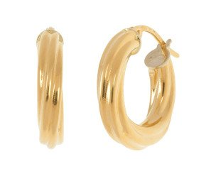 18ct Yellow Gold Twisted Creole Earrings