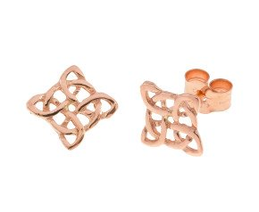 9ct Rose Gold Celtic Style Stud Earrings