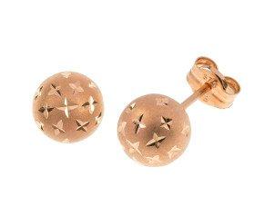 9ct Rose Gold 7mm Ball Stud Earrings