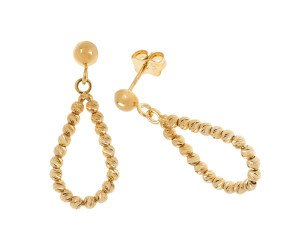 9ct Yellow Gold Drop Earrings
