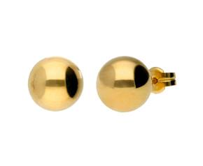 9ct Yellow Gold 9mm Ball Studs