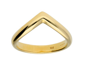 9ct Gold Wishbone Ring