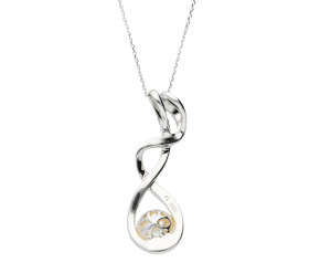 Sterling Silver Cultured Pearl Fancy Pendant