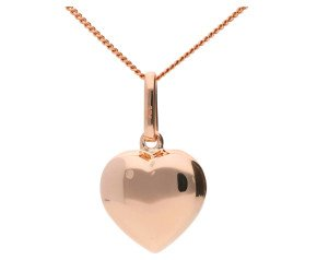 9ct Rose Gold Heart Pendant