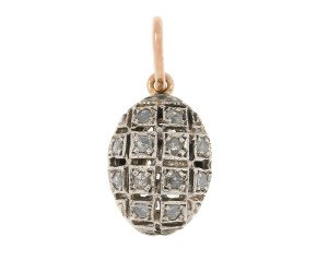 Handcrafted Italian 0.10ct Diamond Cluster Pendant